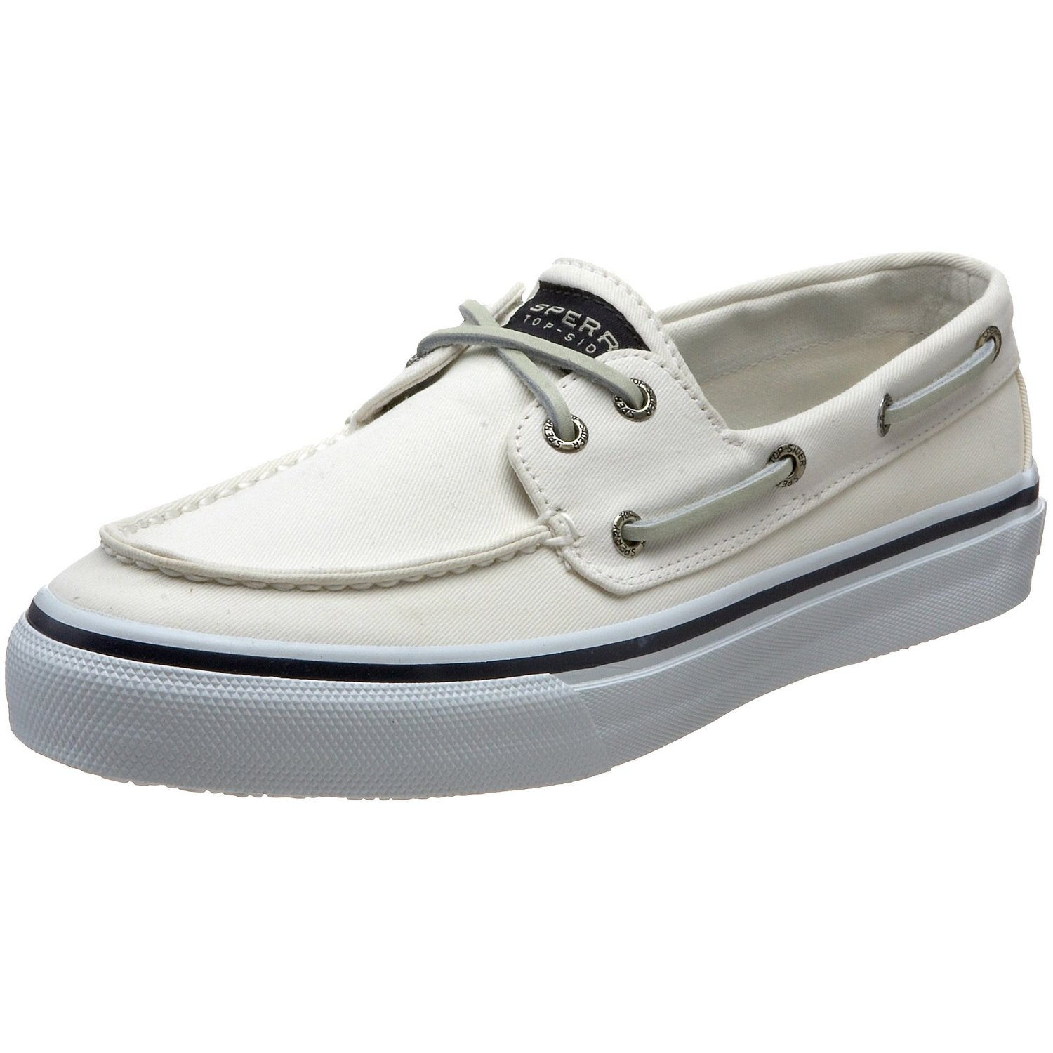 sperry top sider bahama 2eye boat shoe in white for lyst