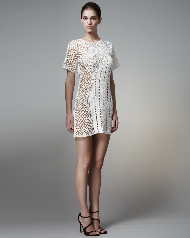 Lyst Stella Mccartney Crochet Shift Dress In White