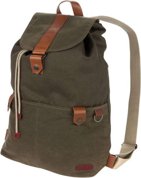 ted baker boarham canvas backpack khaki in green for men. Black Bedroom Furniture Sets. Home Design Ideas
