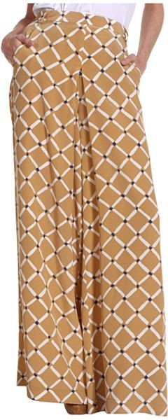 Tibi Nadia On Silk CDC Pants in Beige (p) - Lyst