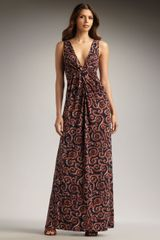 Tory Burch Printed Maxi Dress - Lyst