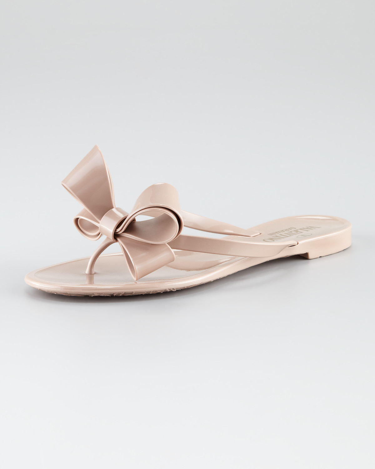 a2b7ac5ca6b019 Lyst - Valentino Couture Bow Jelly Thong Sandal in Pink