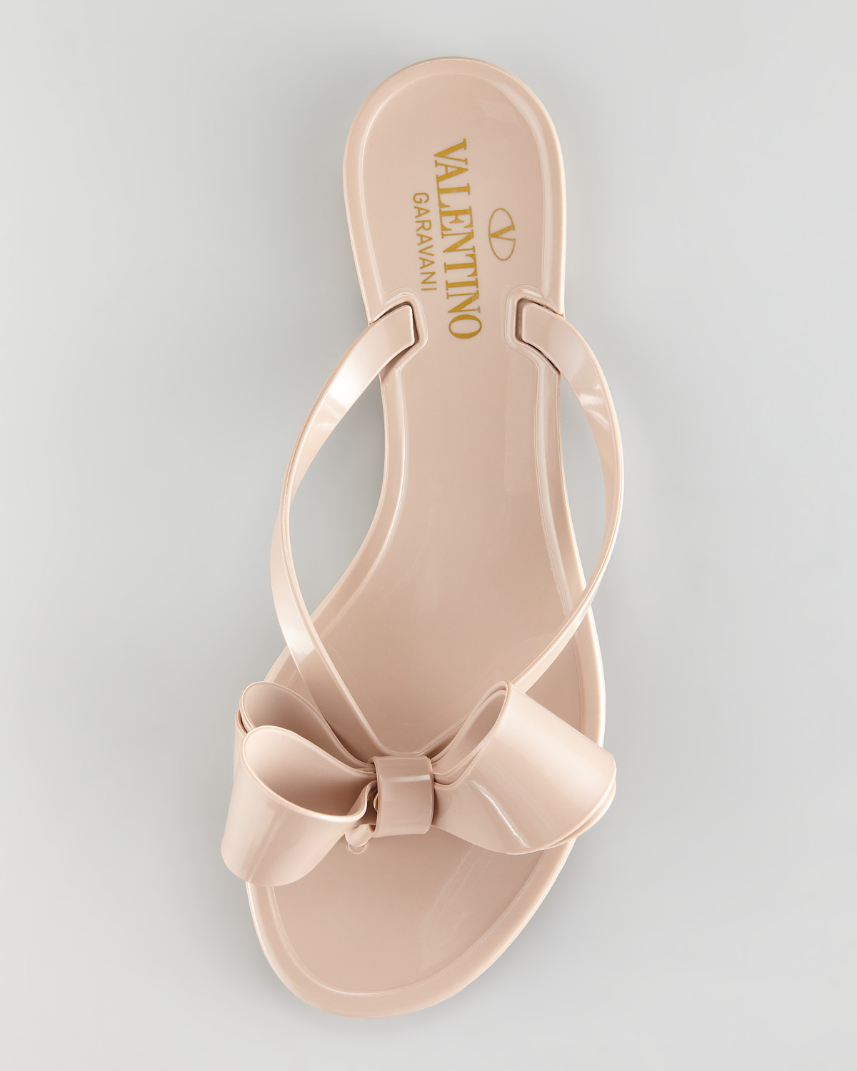 ec27b6bb5086b Lyst - Valentino Couture Bow Jelly Thong Sandal in Pink