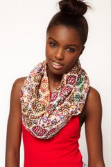 Asos Asos Mixed Pattern Print Snood in Multicolor (multi) - Lyst
