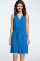 Caslon® Sleeveless Smock Waist Dress - Lyst