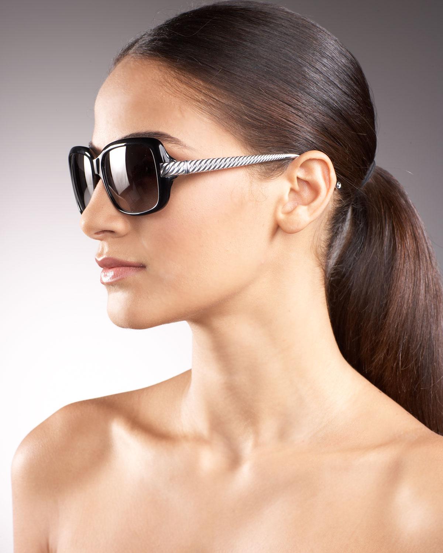 e006deba0d David Yurman Womens Waverly Aviator Sunglasses