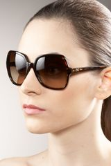Dolce & Gabbana Plastic Sunglasses in Brown (black) - Lyst