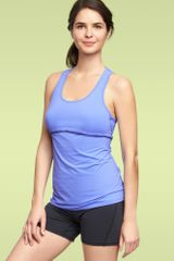 Gap Gapfit Picottrim Tank in Blue (neon light blue) - Lyst
