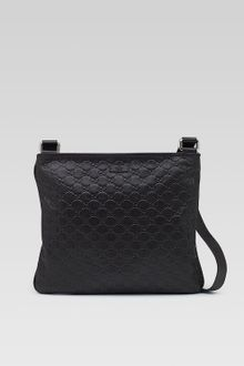 Gucci Leather Messenger Bag  - Lyst