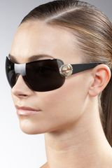 Gucci Shield Sunglasses - Lyst