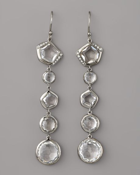 Ippolita Quartz & Diamond Earrings in Silver (cq) - Lyst