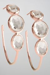 Ippolita Rose Clear Quartz Hoop Earrings Medium - Lyst