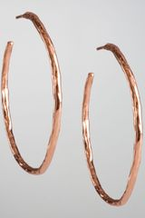 Ippolita Rose Hammered Hoop Earrings - Lyst