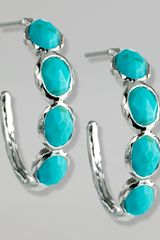 Ippolita Fourstone Hoop Earrings - Lyst