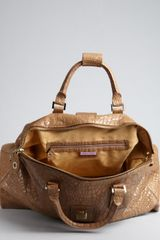 Jimmy Choo Light Brown Corc Embossed Leather Raphael Travel Bag in Brown - Lyst