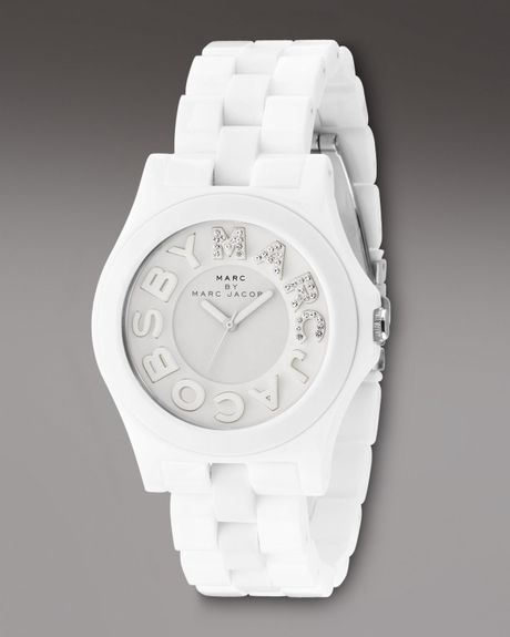 Marc By Marc Jacobs Marco Marc Watch in White - Lyst