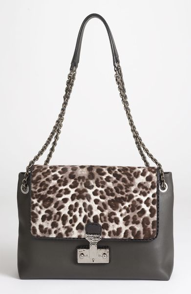 Marc Jacobs Safari Xl Single Leather Calf Hair Shoulder Bag in Gray (dark grey and anamalier) - Lyst