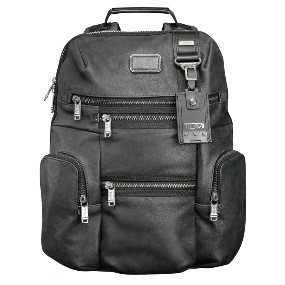 Lyst Tumi Alpha Bravo Leather Knox Backpack In Black For Men