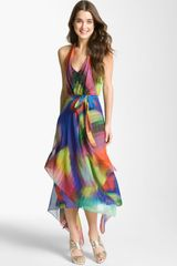 Suzi Chin For Maggy Boutique Print Halter Dress - Lyst