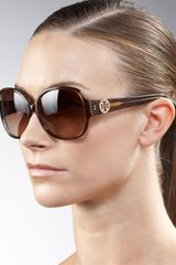 Tory Burch Logo-temple Sunglasses - Lyst
