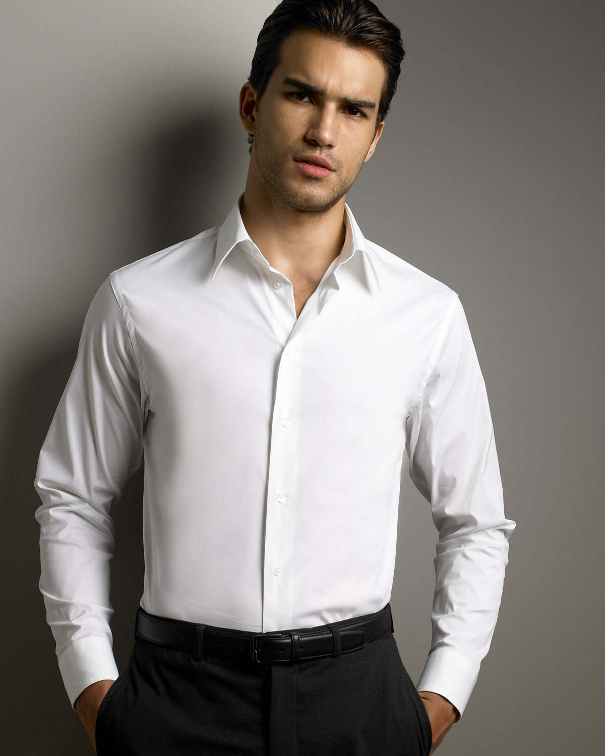 Armani Classic Shirt in White for Men | Lyst
