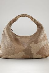 Bottega Veneta Large Patchwork Hobo in Brown (safari) - Lyst