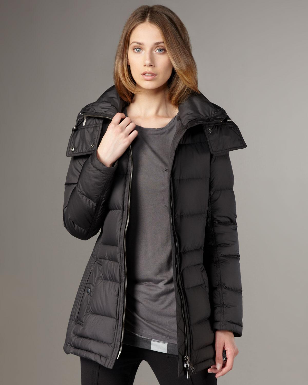 Lyst Burberry Brit Short Puffer Coat In Black