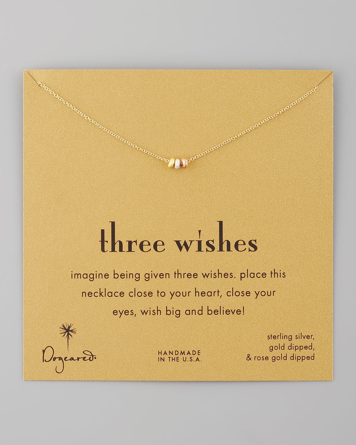 Dogeared Three Wishes Pendant Necklace In Metallic Lyst