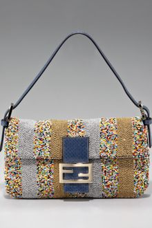 Fendi Beaded Multicolor Baguette - Lyst