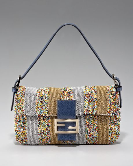 Fendi Beaded Multicolor Baguette in Multicolor (mlti colr blu gld) - Lyst