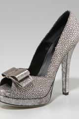 Fendi Deco Crackled Suede Pump - Lyst
