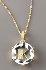 Frederic Sage Jelly Initial Diamond Necklace - Lyst