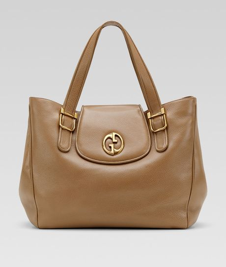 Gucci Medium Tote in Brown (light brown) - Lyst