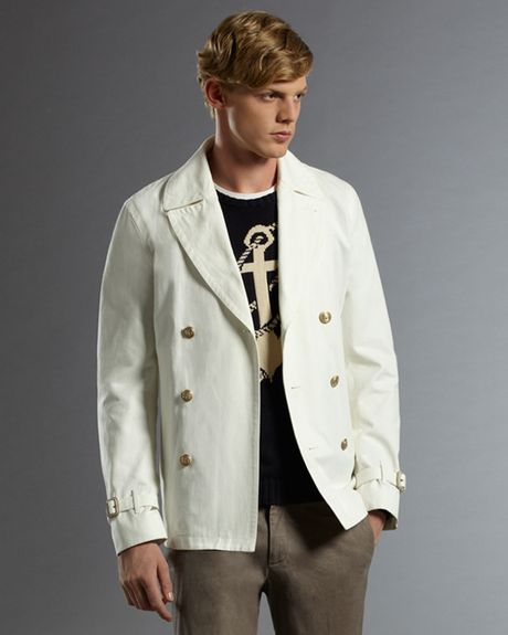Gucci Admiral Peacoat in White for Men - Lyst