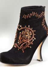 House Of Harlow Beaded Suede Bootie - Lyst