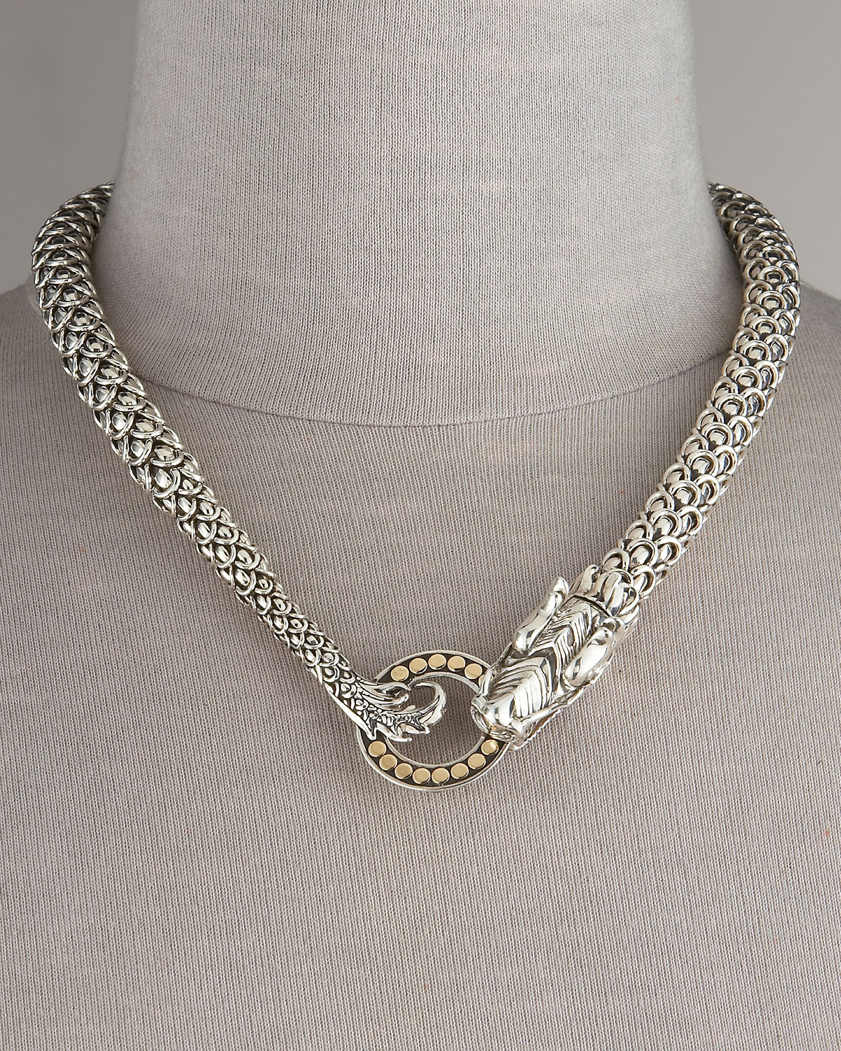 Lyst john hardy naga dragon necklace in metallic for John hardy jewelry factory bali