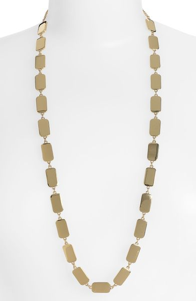 Kate Spade Park Guell Long Strand Necklace in Gold - Lyst