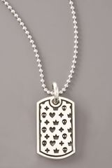 King Baby Studio Motif Dog Tag Necklace - Lyst