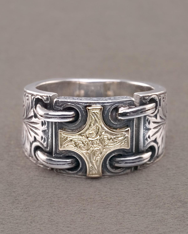 konstantino maltese cross ring in silver for lyst