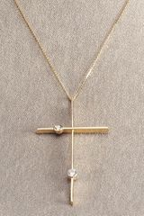 Lana Cross Necklace with Diamonds - Lyst