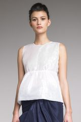 Marc Jacobs Iridescent Organza Top - Lyst