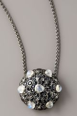 M.c.l By Matthew Campbell Laurenza Pave Moonstone Pendant Necklace - Lyst