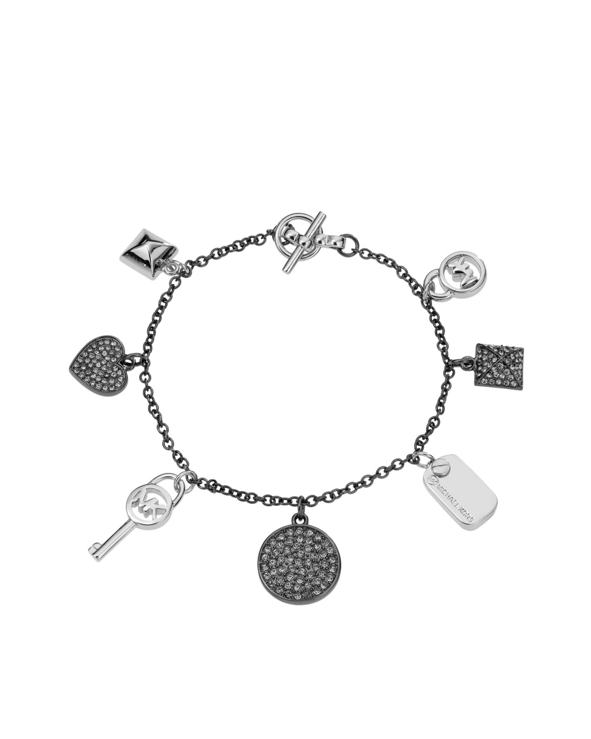 michael kors dainty charm bracelet silver color in silver