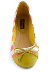 Modcloth Queen Of The Cone Flat in Strawberry and Lemon in Orange (strawberry) - Lyst