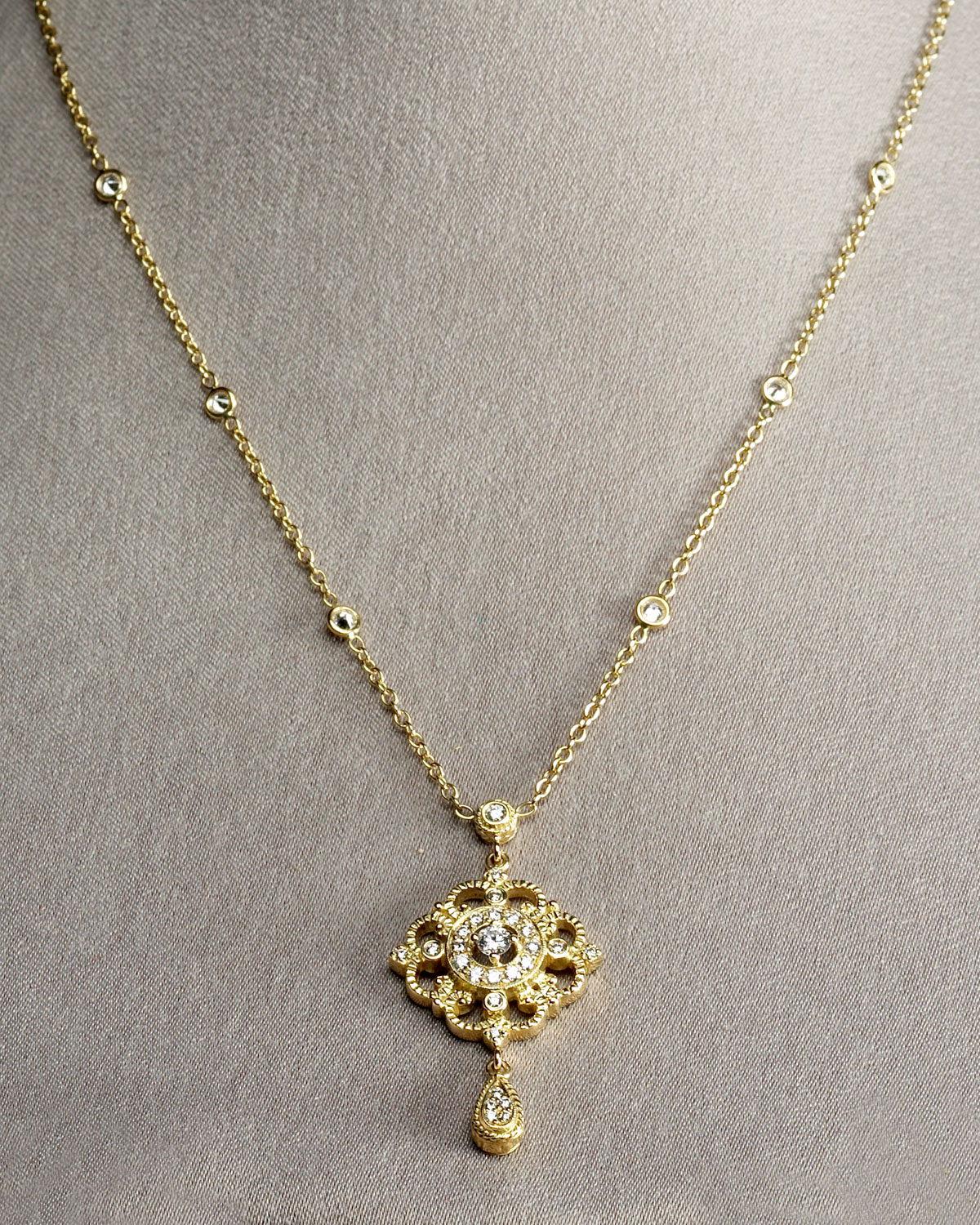 Lyst penny preville gold chain pendant in metallic gallery aloadofball Choice Image