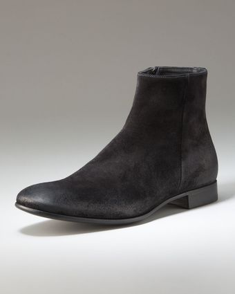 Prada Brushed-suede Boot - Lyst