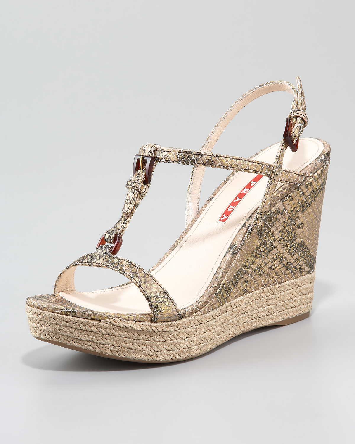 brand new unisex online Prada Python T-Strap Sandals low price sale online sale low shipping fee discount official site big sale online 3Yf8BcYUe