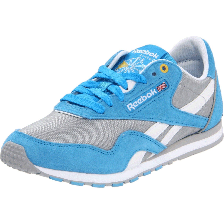 Reebok Classic Nylon Slim Laceup Fashion Sneaker in Blue 97c4ff207