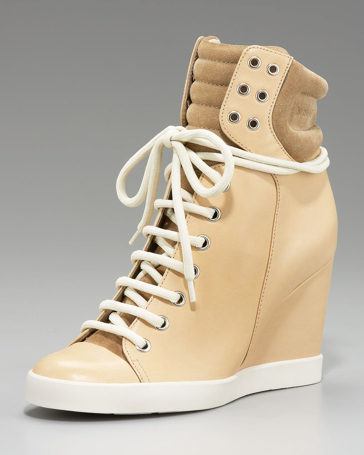 78a0b224355 Lyst - See By Chloé High-top Wedge Sneaker in Natural