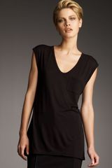 T By Alexander Wang Jersey Pocket Muscle Tee - Lyst